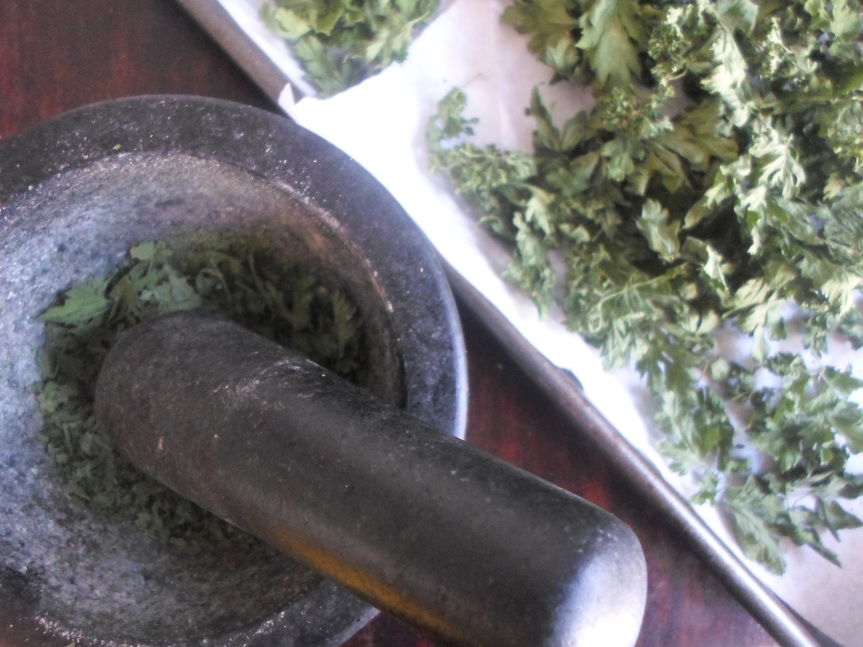 dried herbs; parsley, sage, rosemary andthyme
