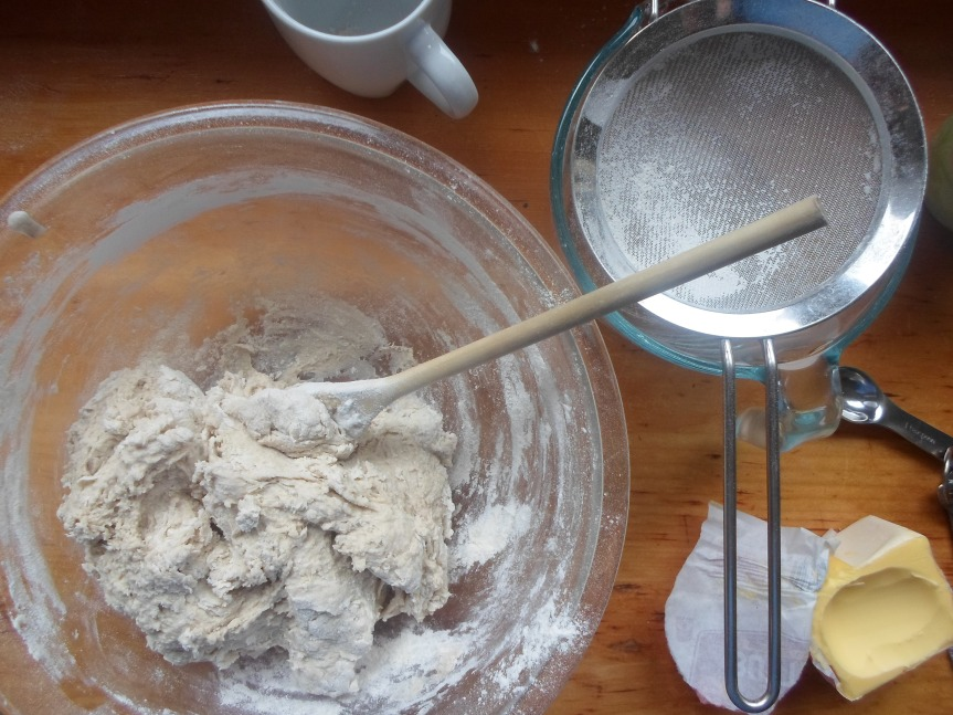 the chapter continues: making sourdough