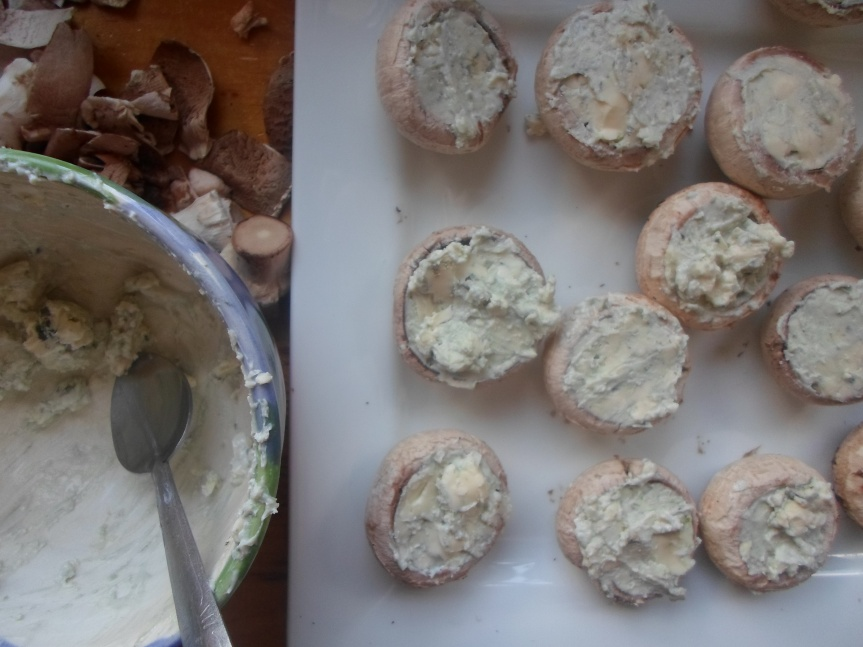 blue cheese-stuffed mushrooms